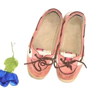 Sperry Angelfish Pink Boat Shoes/Loafers, Size 6